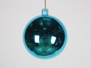 Winterland WL-ORN-BLKS-70-AQ-UV 70MM Shiny Aqua Ball Ornament W/Wire And UV Coating