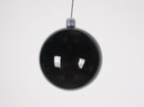 Winterland WL-ORN-BLKS-70-BK-UV 70MM Shiny Black Ball Ornament W/Wire And UV Coating