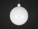 Winterland WL-ORN-BLKS-70-WH-UV 70MM Shiny White Ball Ornament W/ Wire And UV Coating