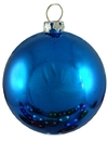 Winterland WL-ORN-BLKS-80-BL-UV 80MM Shiny Blue Ball Ornament W/Wire And UV Coating