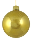 Winterland WL-ORN-BLKS-80-GO-UV 80MM Shiny Gold Ball Ornament W/Wire And UV Coating