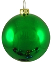Winterland WL-ORN-BLKS-80-GR-UV 80MM Shiny Green Ball Ornament W/Wire And UV Coating