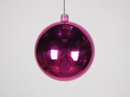 Winterland WL-ORN-BLKS-80-PI-UV 80MM Shiny Pink Ball Ornamentw/Wire And UV Coating