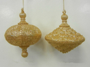 Winterland WL-OVDROP-2PK-GO 2PK Gold Oval Drop Ornament