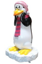 Winterland WL-PNG-FNY-HPI Funny Penguin Thinking with a Hot Pink Hat & Scarf