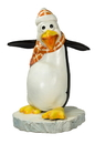 Winterland WL-PNG-FNY-OR Flipper The Funny Penguin With A Orange Scarf
