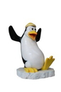 Winterland WL-PNG-FNY-YE Whipper The Funny Penguin With A Yellow Hat on Ice