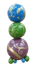 Winterland WL-POLYORN-06-PGBG 6' Purple, Green, Blue and Gold Stacked Ornaments