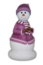 Winterland WL-SNMN-MA-MINI Mini Snowman Mother Dressed in Mauve