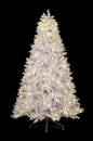 Winterland WL-TR-7-5-WH-LWW 7.5' Classic White Pre-Lit Tree with Warm White Lights and a Metal Stand