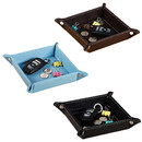 Square Leather Valet Tray, Catchall Tray for Wallets, Keys, Jewelry, Coins and Office Equipment
