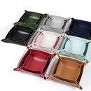 Leather Catchall Tray, Leather Tray Organizer Storage for Wallets, Keys, Jewelry, Coins and Office Equipment