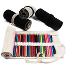 36/48/72 Holes Custom Canvas Roll Up Pencil Holder, Personalized Colored Pencil Organizer