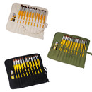 22 Slots Custom Paint Brush Holder, Personalized Canvas Roll-up Pencil Bag