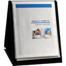 LION 39009-V FLIP-N-TELL Display Book-N-Easel, Letter - 20-pocket - Vertical - 1 Each - Black