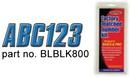 Hardline LETTER SET BLUE/BLACK BLBLK800 (Image for Reference)