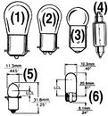 SeaDog BULB #1034 CARD OF 2 441034-1 (Image for Reference)