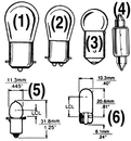 SeaDog BULB #57 CARD OF 2 441057-1 (Image for Reference)