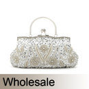 Toptie Flower and Leaves Beaded Handbag - Wholesale