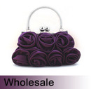 Toptie Metal Handle Bouquet Rose Purse Handbag - Wholesale