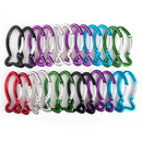 GOGO Wholesale Aluminum Fish-shaped Carabiners (Price/24pcs)