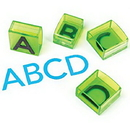 Educational Insights 1646 See & Stamp Jumbo Alphabet Transparent Stamps-Uppercase (20 Pieces)