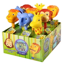 Learning Resources 1713 Puppet-On-A-Stick Zoo Crew Display (Display Of 9 - Lion, Monkey, Elephant & Giraffe)