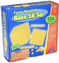 Educational Insights 4805 Foam Magnetic Base 10 Set (121 Pieces)