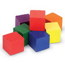 Learning Resources LER0136 Wooden Color Cubes™