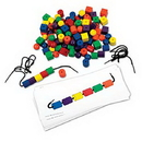 Learning Resources LER0139 Beads & Pattern Card Set
