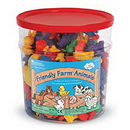 Learning Resources LER0187 Friendly Farm® Animal Counters, Set Of 144