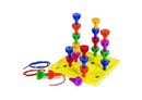 Learning Resources LER0594 Rainbow Peg Play™ Activity Set