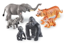 Learning Resources LER0839 Jumbo Jungle Animals - Mommas And Babies