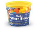 Learning Resources LER3550 Brights!™ Pattern Blocks