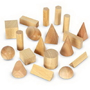 Learning Resources LER4298 Wooden Geometric Solids, Set Of 19