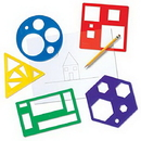 Learning Resources LER5440 Primary Shapes Template Set