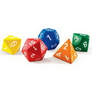 Learning Resources LER7694 Jumbo Foam Polyhedral Dice