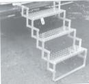 Brophy AS03 Aluminum Scissor Steps, 3-Step