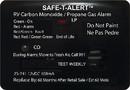 MTI Industries 12V 25 Series Safe-T-Alert Mini RV Dual Carbon Monoxide/Propane Alarm, 25-741-BL