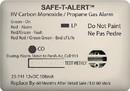 MTI Industries 12V 25 Series Safe-T-Alert Mini RV Dual Carbon Monoxide/Propane Alarm, 25-741-WT