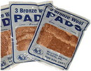 Western Pacific Trading 35005 Bronze Wool Pads, Med. 3/Pack