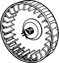 Suburban Furnace Part, Combustion Air Wheel, 350184