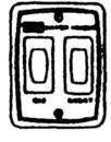Suburban Switch & Light w/ Plate, White, 520764