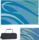 Ming's Mark Reversible Mat, Graphic Blue/Green, 8' x 12', GA3-BLU/GRN