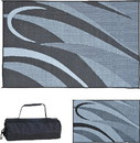 Ming's Mark Reversible Mat, Graphic Black/Silver, 8' x 16', GB1-BLK/SLVR
