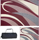 Ming's Mark Reversible Mat, Graphic Burgundy/Beige, 8' x 16', GB5-BURG/BLK