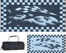 Ming's Mark Reversible Mat, Checkered Flag Black/White, 8' x 16', HB1-CHECKERED