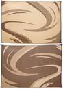 Ming's Mark Reversible Mat, Swish, Brown/Tan, 8' x 11', SD8117