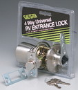 Valterra Stainless Steel 4 Way Universal Entrance Panic Proof Lock, L32CS000