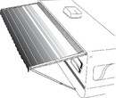 Dometic 8500 Manual Patio Awning, 19', Maroon, 9108803816